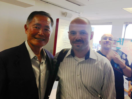 George Takei with Vitaly Golomb and Dave McClure